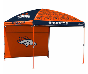 Denver Broncos NFL 10' x 10' Dome Tailgate Party Canopy Logo Wall Tent Carry Bag