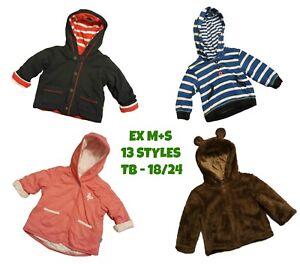 Baby-Girls-Boys-Cardigan-Jumper-Sweater-Jacket-Hoodie-Casual-Coat-Ex-M-S-M-Care