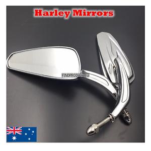 Chrom-Rearview-Mirror-Harley-sportster-softail-dyna-electra-glide-XL-CVO-fat-bob