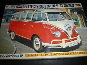 Hasegawa 21210 HC-10 Volkswagen tipo 2 Micro Bus 23 Ventana 1/24 MCM Nuevo En Caja