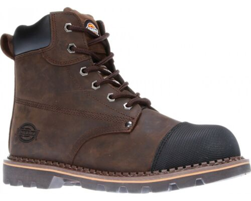 Dickies Crawford Safety Boots Work Steel Toe Cap Midsole Goodyear Welted Mens