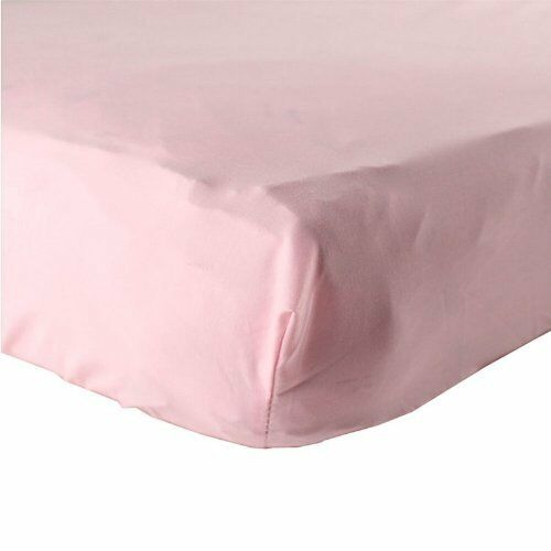 """LUVABLE FRIENDS FITTED WOVEN COTTON CRIB SHEET 28/"""" X 52/"""" BOYS GIRLS NEUTRAL NEW"""