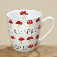 Becher Tasse Glückspilz (210760) Jumbobecher Kaffeebecher Jumbotasse Kaffeetasse