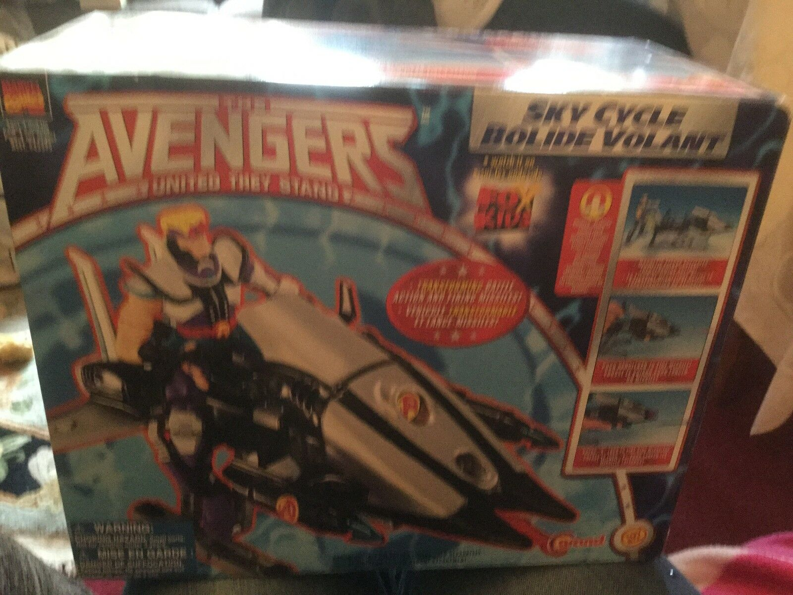 MARVEL COMICS THE AVENGERS SKY CYCLE VEHICLE UNITED THEY STAND STAND STAND NEW BOXED fc6f54