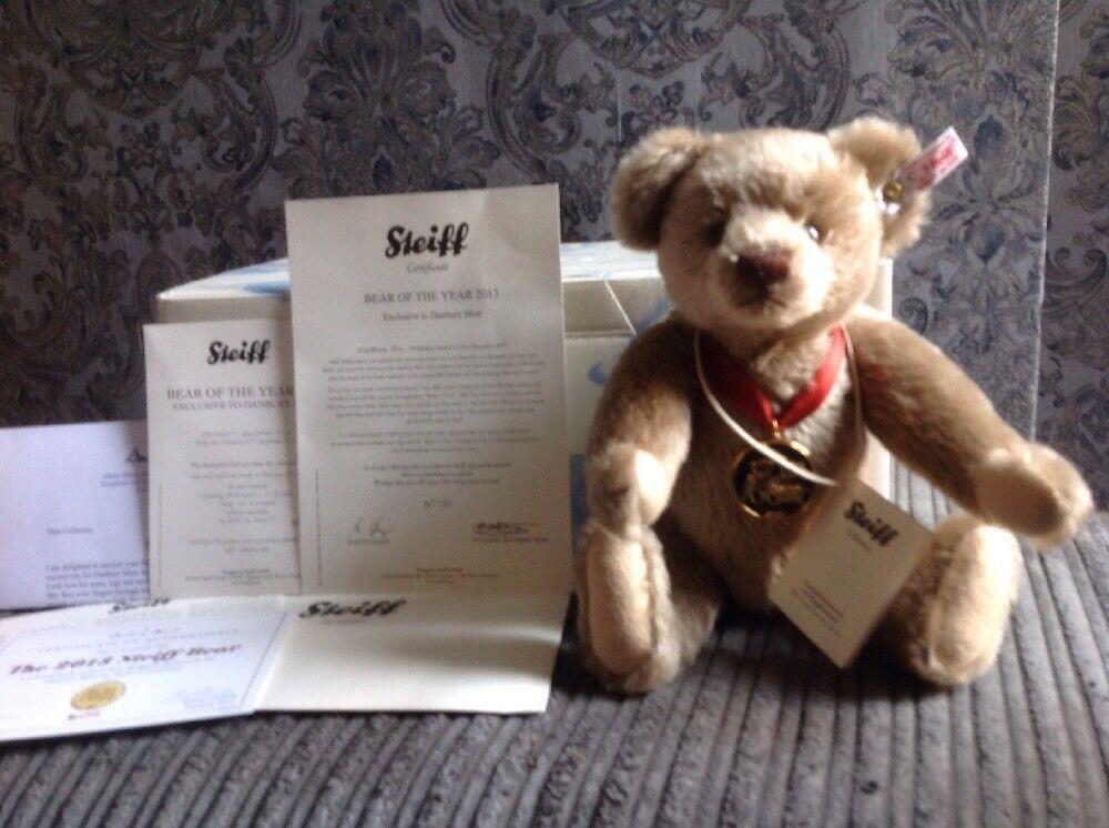Steiff Orso dell'anno 2013, in scatola con i certificati.