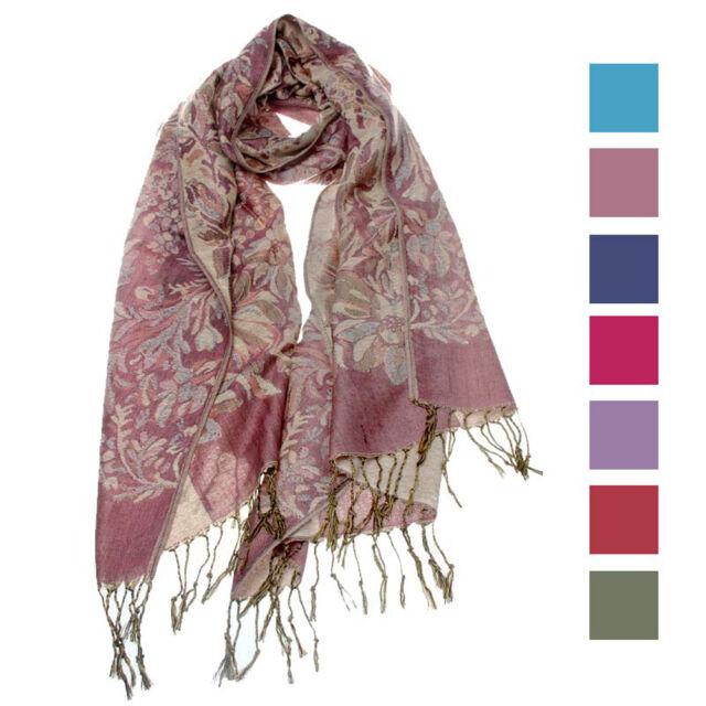 Retro Womens Fashion Scarf Floral Bohemia Tassels Shawl Over Long Shawl Scarves