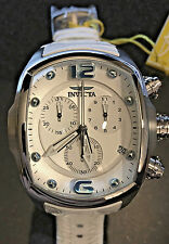 @NEW Invicta Men's Lupah Revolution Chronograph Leather Strap Quartz Watch 6128