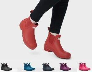 Details about NEW Hunter Women's Original Chelsea Waterproof Rain Boots Authentic Ankle Bootie