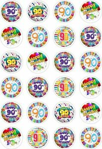 Image Is Loading 24 90th Birthday Cupcake Fairy Cake Toppers Edible