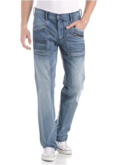 4wards worker jeans Nuovo W31, W31, W31, W32, W33, W34 L36 Uomo Blu denim dritto 0d45ed