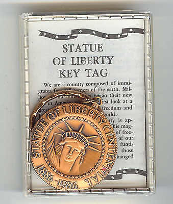 STATUE OF LIBERTY KEY CHAIN CELEBRATES 100 YEAR ANNIVERSARY 1886-1986