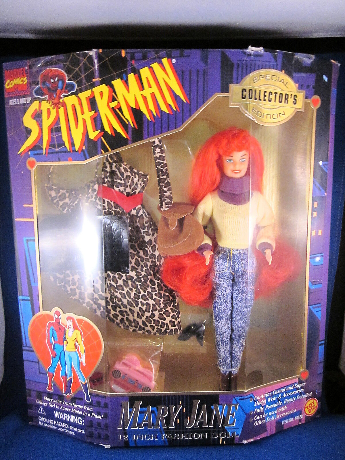 Toy Biz Spiderman 30.5cm Mode Puppe Mary Jane Special Collector's Edition