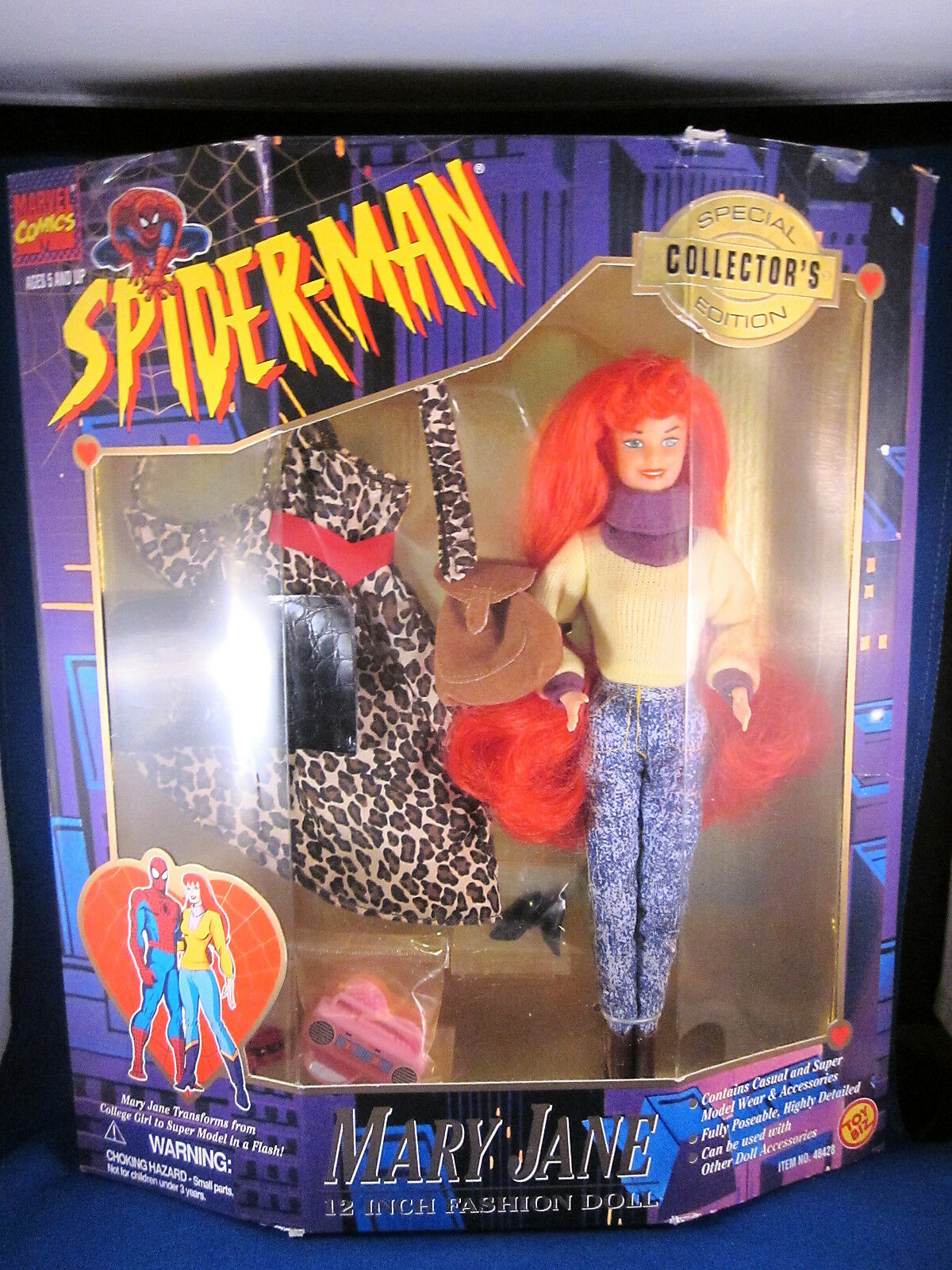 Toy Biz Spider-Man 12 Inch Fashion Doll Mary Jane Special Collector's Edition