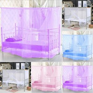 4-Corner-Post-Bed-Canopy-Mosquito-Net-Twin-Full-Queen-King-Size-Netting-Bedding