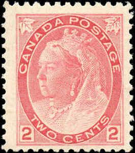 1899-Mint-H-Canada-F-Scott-77-2c-Queen-Victoria-Numeral-Issue-Stamp