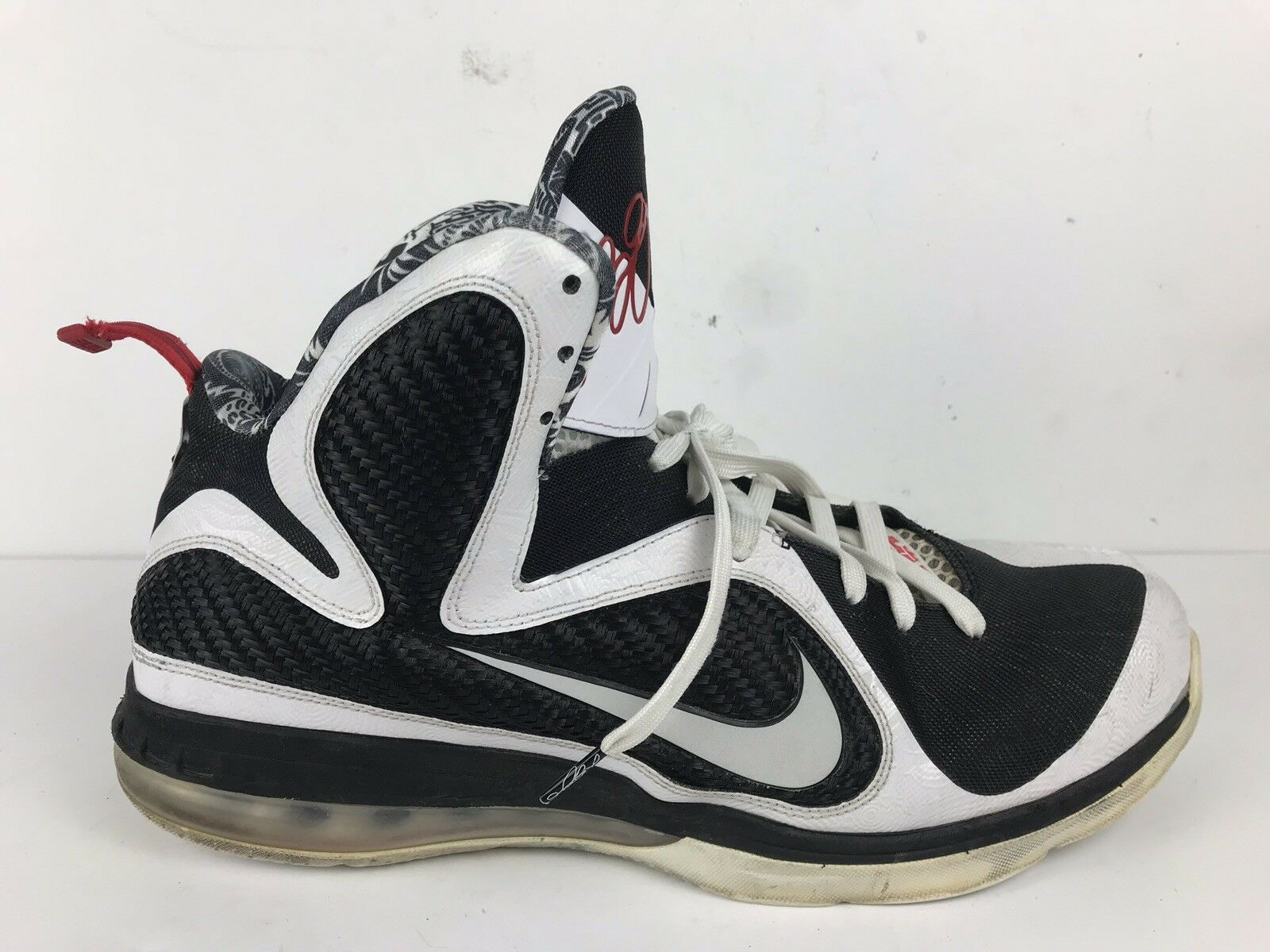 Men's Nike Lebron Black/White/Red 9 Freegums Size 13 Black/White/Red Lebron Pre-Owned b33b1b