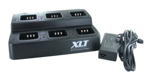 XLT 6-Unit Multi-Charger For Kenwood KNB-45L TK2400//TK3400 Series