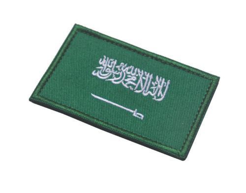 SAUDI ARABIA FLAG SAUDIS COUNTRY FLAG MILITRAY TACTICAL MORAEL HOOK PATCH GREEN