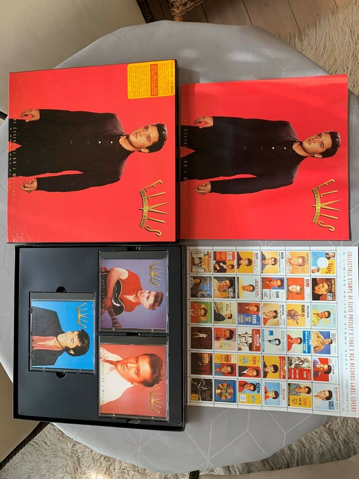 Elvis presley: 3 bokse med 15 cd-er ialt 390 nr, rock
