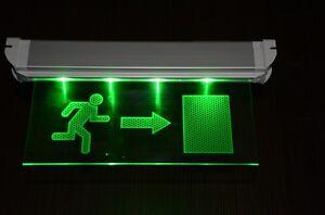 Dauerlicht LED Notleuchte Notbeleuchtung Exit Notausgang Fluchtwegleuchte Not...