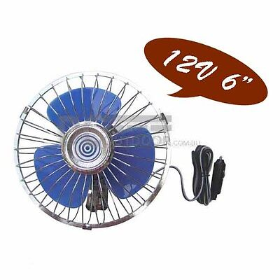 """12V Oscillating Fan with Dash Mounting Base - 150mm 6"""" BLADE for Boat, Truck ect"""