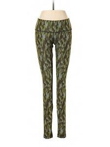 Women-Lululemon-Olive-Green-Geometric-Athletic-Yoga-Barre-Pants-Size-4