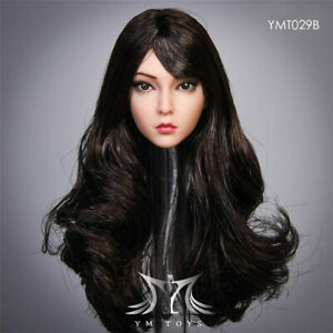 """YMTOYS 1//6 Female Head Sculpt Carved Model Long Hair Toy for 12/"""" Figure Action"""