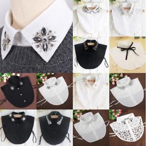 Lady-Detachable-Faux-Fake-Lapel-Retro-Shirt-Collar-Necklace-Removable-Chok-COP