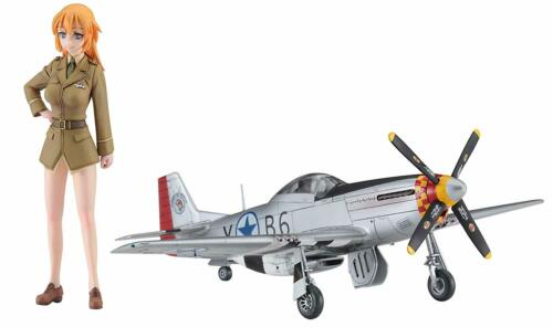 Charlotte E Yeager w//P-51D Mustang 1//20 1//72 Hasegawa SP431 Strike Witches