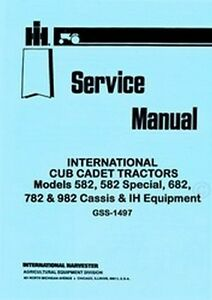 image is loading cub-cadet-582-specia-682-782-982-chassis-