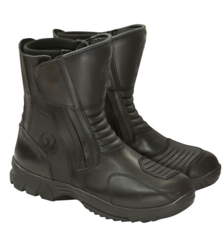 Black Merlin G24 Vulcan Outlast Breathable Waterproof Leather Motorcycle Boots