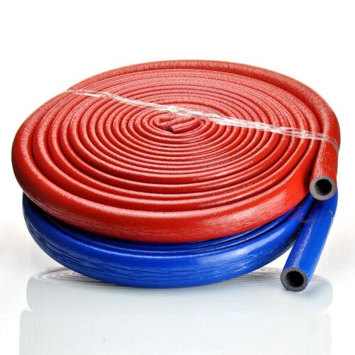 Isolierschlauch Rohrisolierung 10-6mm/&4mmx15-35 Rot Blau Grau Clips Klammern