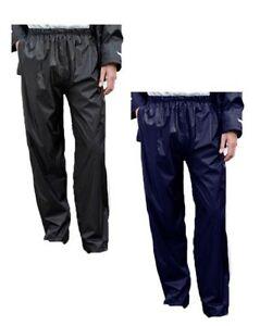 Hombre-Impermeable-Exteriores-Pantalon-Negro-Azul-marino-S-XXXL