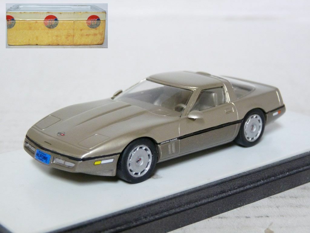 AMR X 475 1 43 1986 Chevrolet Corvette White Metal Handmade Model Car Kit
