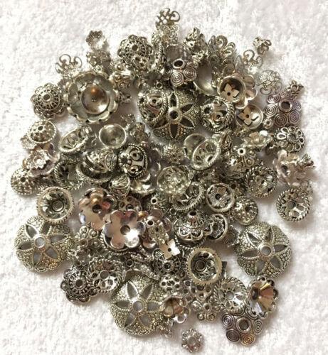 150 unidades tapas perlkappen perlas Antik mezclan plata nuevo 1271