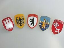 ACCESSORY VOLKSWAGEN  BUG HOOD CREST VW BEETLE COX OVAL KÄFER BADGE PLAKETTE SET