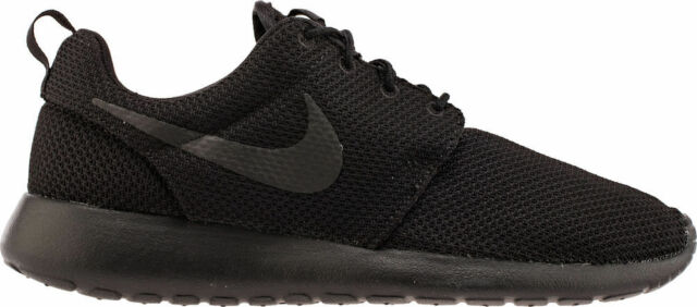 c7b40657dd75 Mens Nike Roshe One 1 Run Size 11 Triple Black Shoes for sale online ...