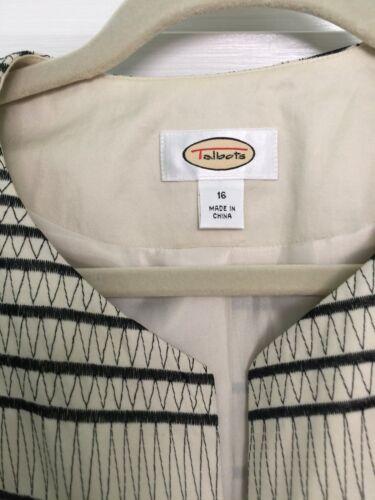 Størrelse Talbots Cream Black On Jacket Striped Baggrund A 16 0v0wrqX