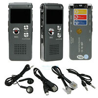 New 8GB Digital Voice Recorder 650Hr Dictaphone MP3 Player CL-R30 Silver USA