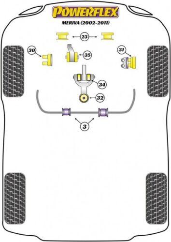 Powerflex PU Buchsen Corsa C Meriva A Tigra B hinteres unteres Motorlager vorne
