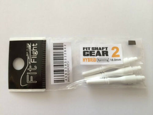 COSMO FIT SHAFTS GEAR #2 WHITE HYBRID SPINNING TYPE 18mm FOR FIT FLIGHTS ONLY