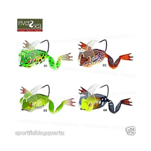 ARTIFICIAL RIVER2SEA DAHLBERG BUCEO FROG50 17.5g SET QUATTRO VARIOS  colorS  first time reply