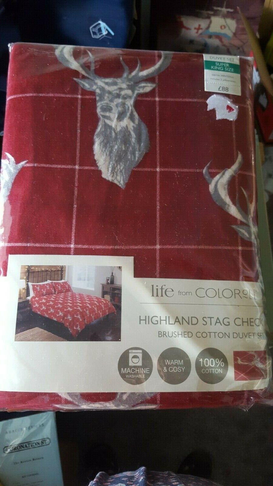 Duvet Cover with Pillowcase Bedding Set rot superking flannalette