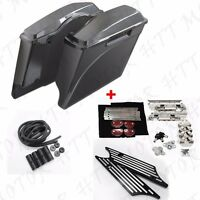 Unpainted Stretched Saddlebag W/ Latch Lock Cover For Harley Touring 1994-2013