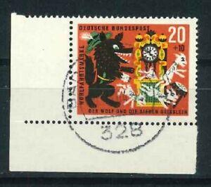 BRD-Mi-Nr-410-Ecke-3-zentrisch-gestempelt-Vollstempel