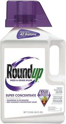 Roundup Weed and Grass Killer Super Concentrate, 1/2 ...