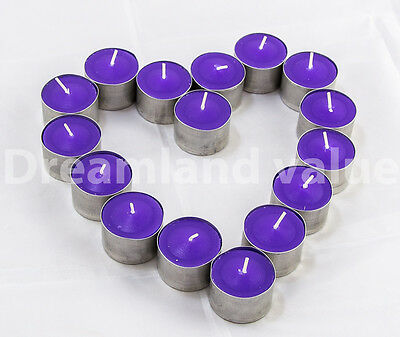 LAVENDER SCENTED TEA LIGHTS CANDLES TEALIGHTS 8HR 8HOUR