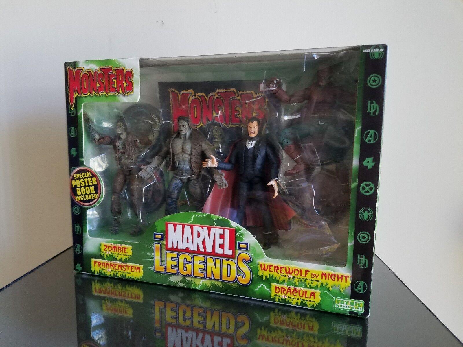 Muy Raros  MARVEL leyendas monstruos 4 figura Box set Toy Biz
