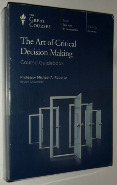 Roberto - THE ART OF CRITICAL DECISION MAKING - Region 1 US IImport DVD - NEW