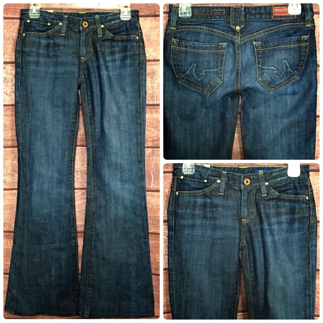 AG Adriano goldscmied Womens Denim Jeans Boot Cut Medium Wash Size 28x29